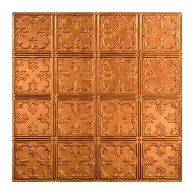 Traditional 10 - 2 ft. x 2 ft. Lay-in Ceiling Tile in Antique Bronze