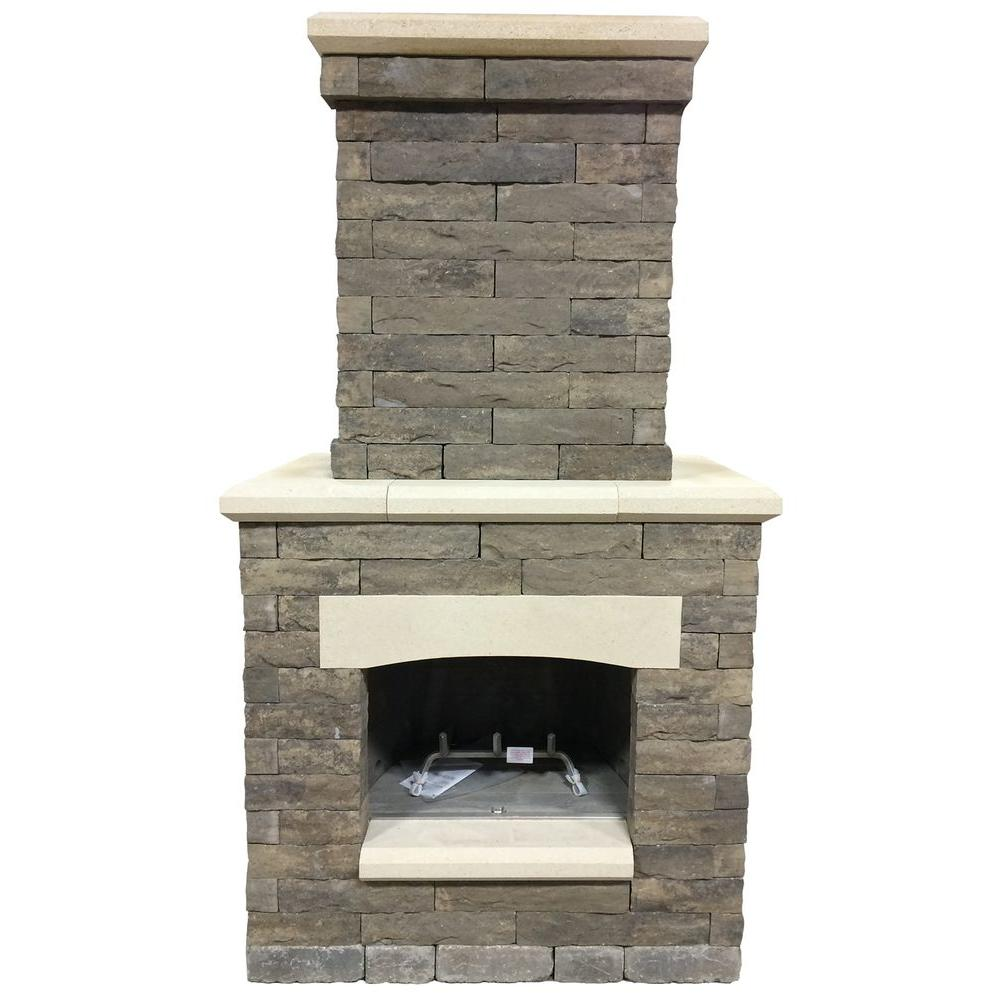 Oldcastle Avondale 53 In X 33 5 99 Sienna Outdoor Fireplace