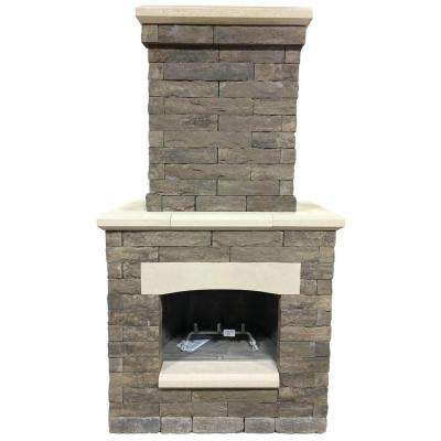 Avondale 53 in. x 33.5 in. x 99.5 in. Sienna Outdoor Fireplace