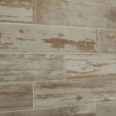 Vintage Chic Gray 6 in. x 24 in. Glazed Porcelain Floor and Wall Tile (392.31 sq. ft. / pallet)