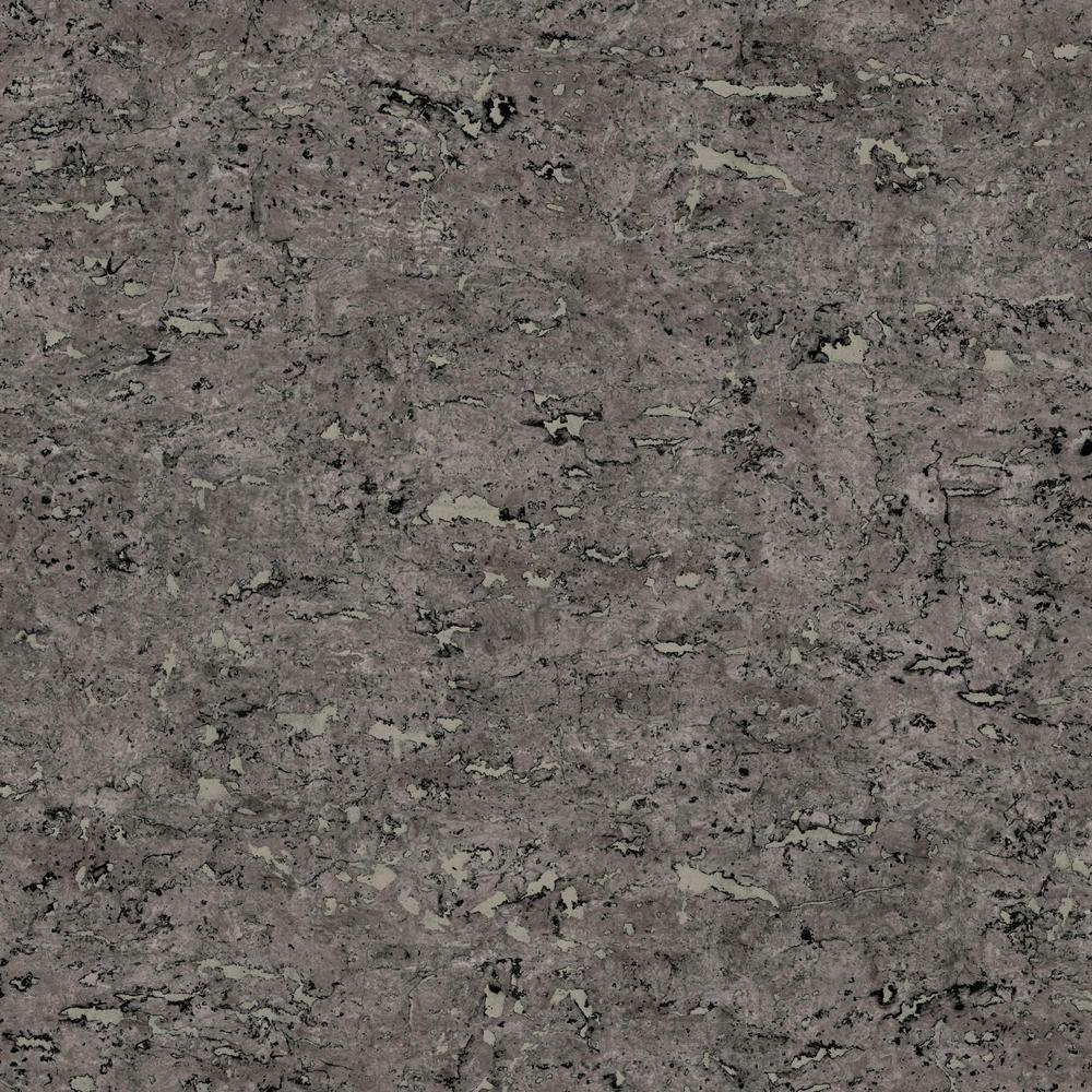 Faux Cork Black Peel and Stick Wallpaper