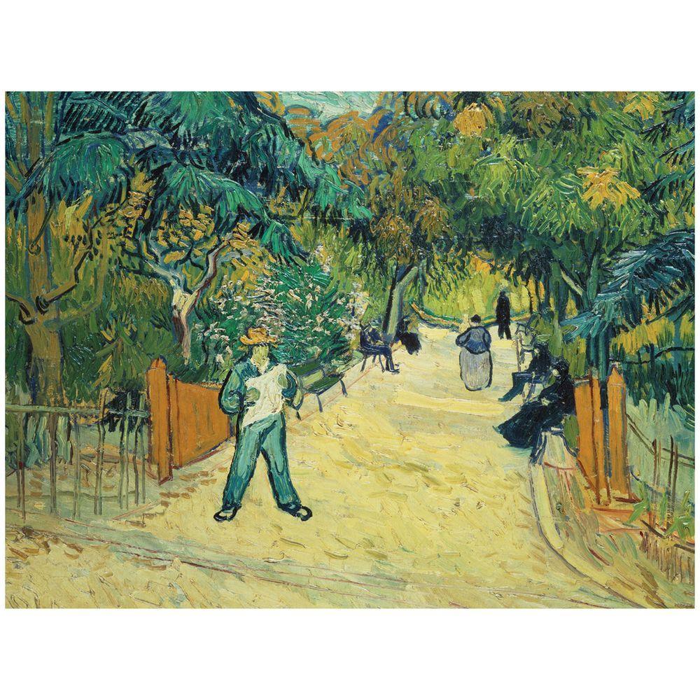 Trademark Fine Art 26 in. x 32 in. Public Gardens in Arles 1888 Canvas Art