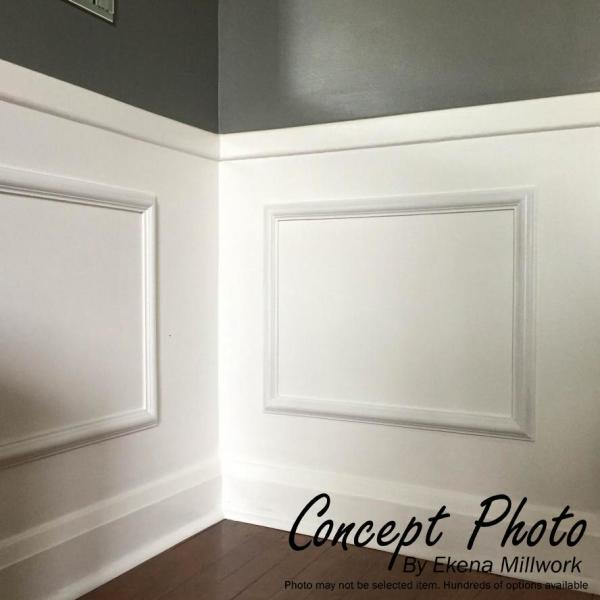 2-Pack Factory Primed White 2 Piece x x Ekena Millwork PNL16X20AS-02-CASE-2 16W x 20H x 1//2P Ashford Molded Scalloped Wainscot Wall Panel