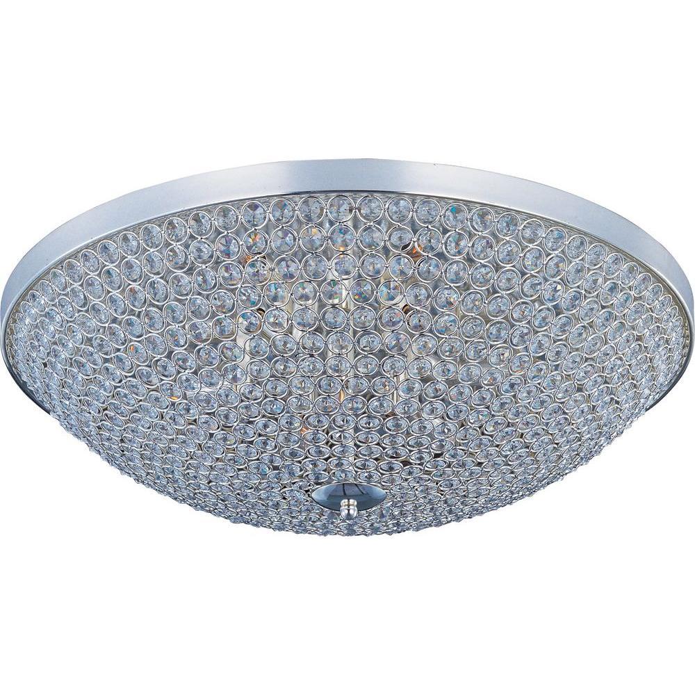 Maxim Lighting Malaga 4-Light Flush Mount-11060MROI - The Home Depot