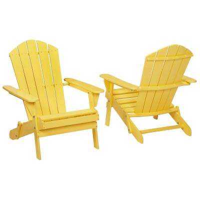 Buttercup Folding Outdoor Adirondack Chair (2-Pack)