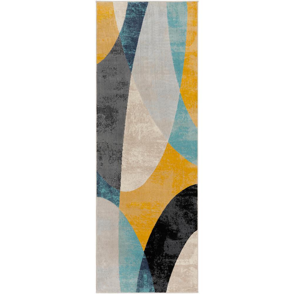Artistic Weavers Astvin Mustard 2 ft. 7 in. x 7 ft. 3 in. Geometric Runner Rug