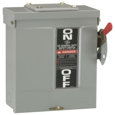 GE 60 Amp 240-Volt Non-Fuse Metallic AC Disconnect-TFN60RCP - The