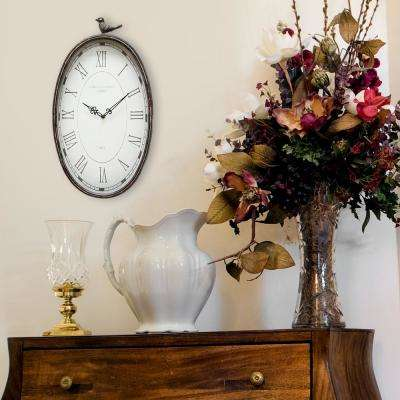 Antique Oval Bird Clock