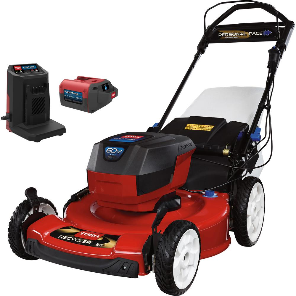 Toro Recycler 22 in. 60-Volt Lithium-Ion Cordless Battery Walk Behind Personal Pace Mower - 6.0 Ah Battery/Charger Included