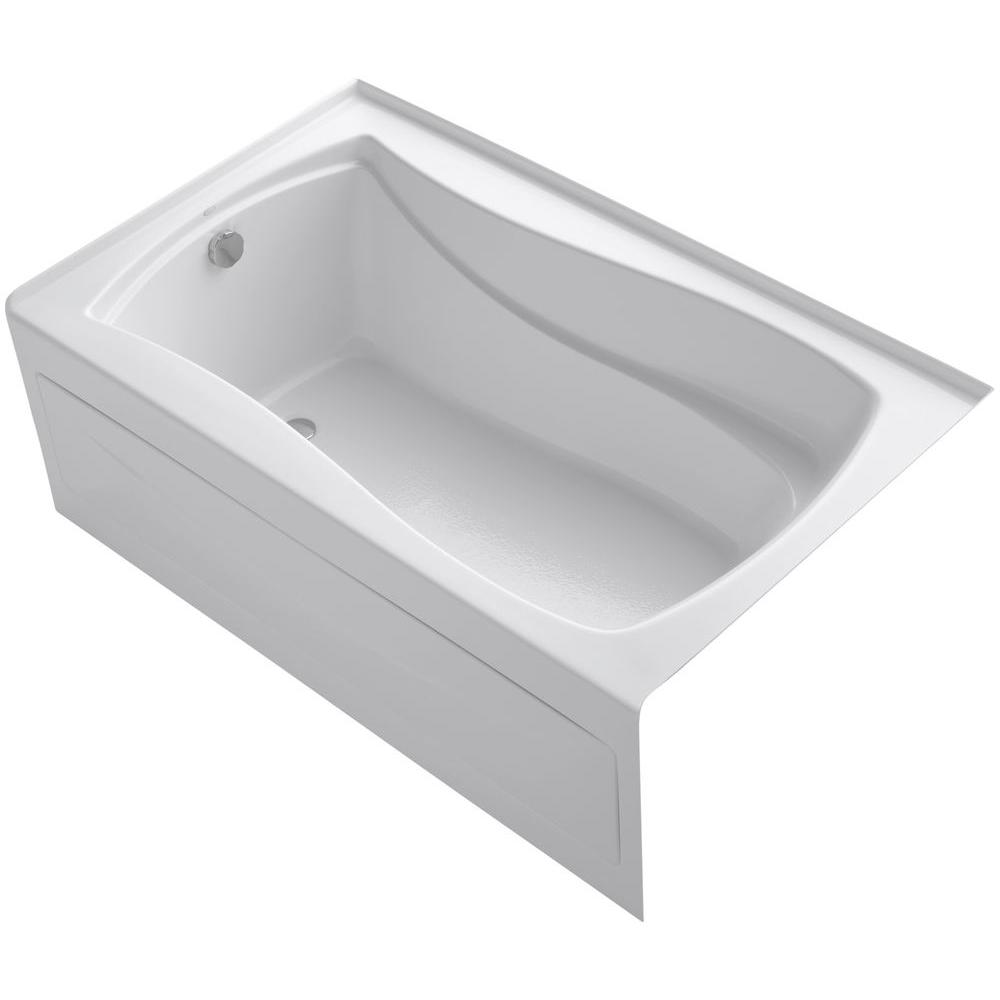 Mariposa 5 ft. Acrylic Left-Hand Drain with Integral Farmhouse Rectangular
