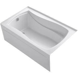 Kohler Mariposa 5 ft. Acrylic Left-Hand Drain with Integral Farmhouse Rectangular Alcove Bathtub in White by KOHLER