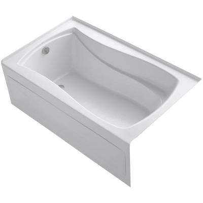 Mariposa 5 ft. Acrylic Left-Hand Drain with Integral Farmhouse Rectangular Alcove Bathtub in White