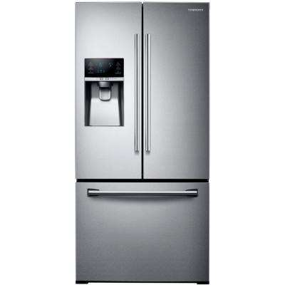 33 in. W 25.5 cu. ft. French Door Refrigerator in Stainless Steel