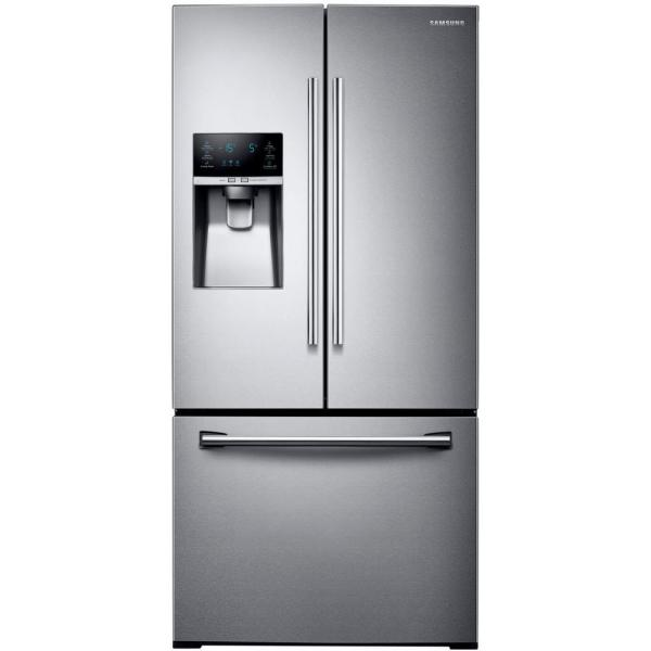 Samsung 33 in. W 25.5 cu. ft. French Door Refrigerator in Stainless Steel