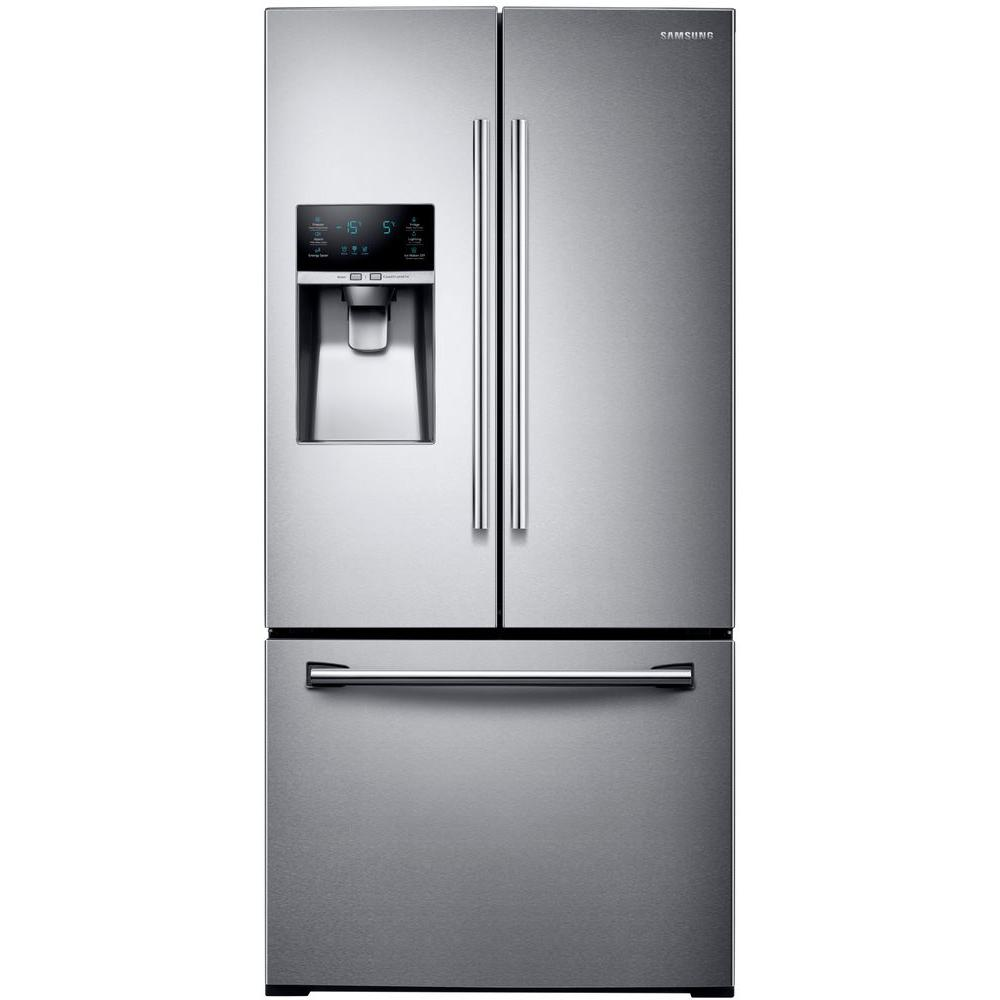 samsung 33 in w 25 5 cu ft french door refrigerator in. Black Bedroom Furniture Sets. Home Design Ideas