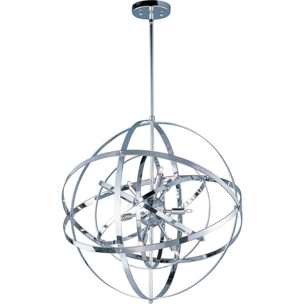Maxim Lighting Sputnik 9-Light Polished Chrome Pendant Maxim Lighting's commitment to both the residential lighting and the home building industries will assure you a product line focused on your lighting needs. With Maxim Lighting accessories you will find quality product that is well designed, well priced and readily available. Maxim has fixtures in a variety of styles and a strong presence in the energy-efficient lighting industry, Maxim Lighting is the clear choice for quality lighting.