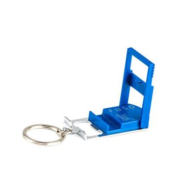 Micro-Light Smartphone Stand with Key Chain in Blue Col, Bottle Opener, Microlight, Can Opener, Mobile Phone Stand