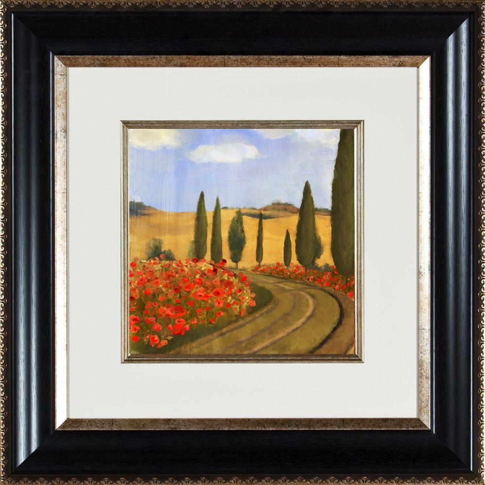 """null 21.25 in. x 21.25 in. """"Poppies Di Toscana B"""" Framed Wall Art"""