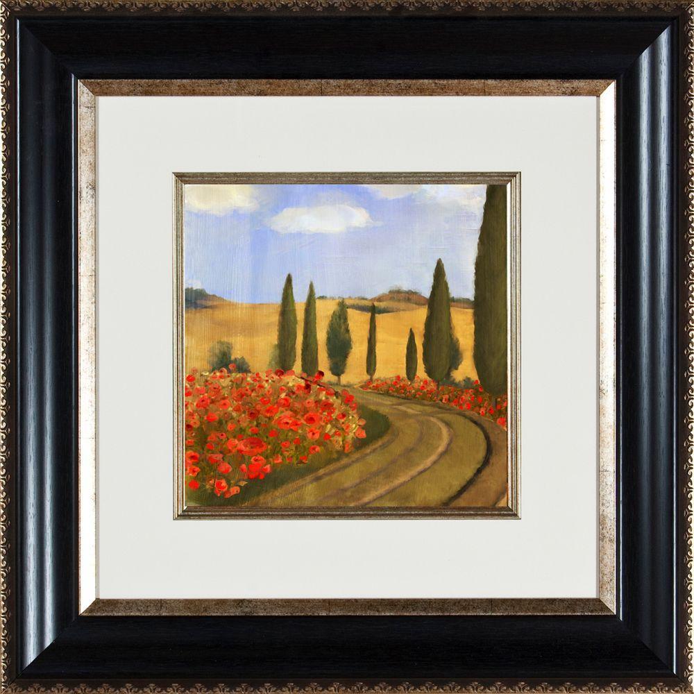 "21.25 in. x 21.25 in. ""Poppies Di Toscana B"" Framed Wall Art"