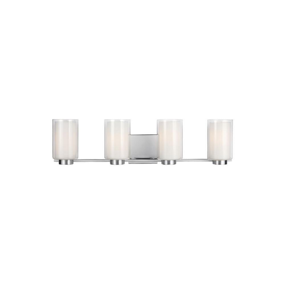 Bergin 4-Light Satin Nickel Wall Bath Light