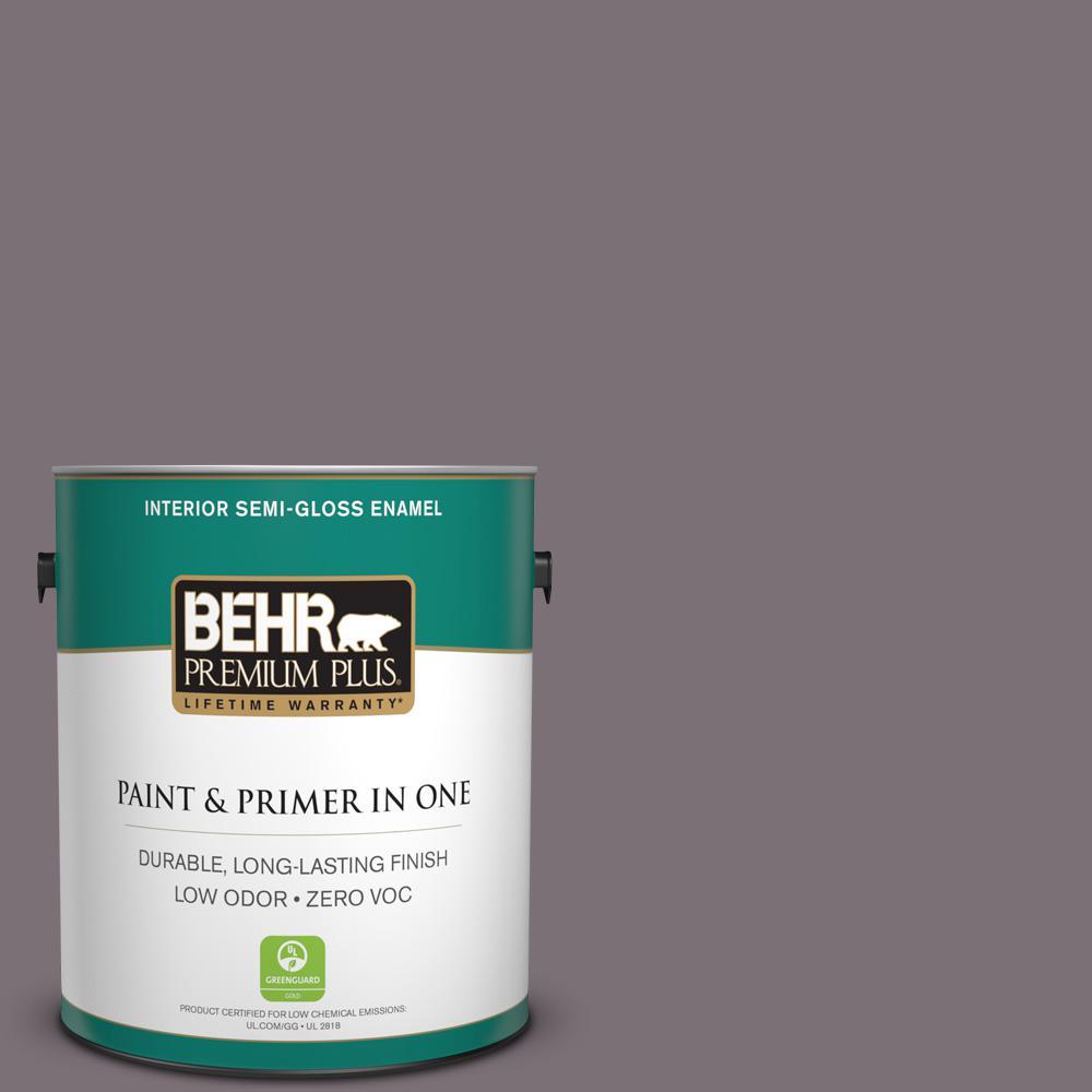 1 gal. #PPU17-18 Echo Zero VOC Semi-Gloss Enamel Interior Paint