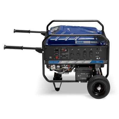 4,500 Watt Gasoline Powered Electric Start Portable Generator with Engine incl. mobility kit