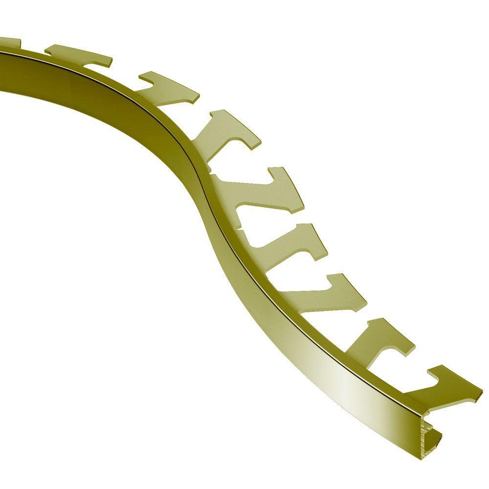 Schiene Solid Brass 1/2 in. x 8 ft. 2-1/2 in. Metal Radius Tile Edging Trim