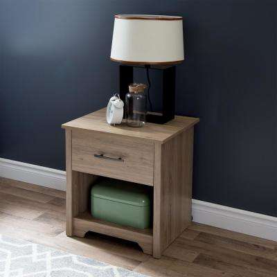 Fusion 1-Drawer Rustic Oak Nightstand