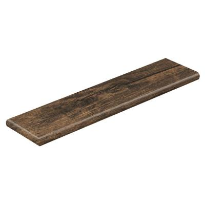 Rustic Espresso Oak 47 in. Long x 12-1/8 in. Deep x 1-11/16 in. Height Laminate Left Return to Cover Stairs 1 in. Thick