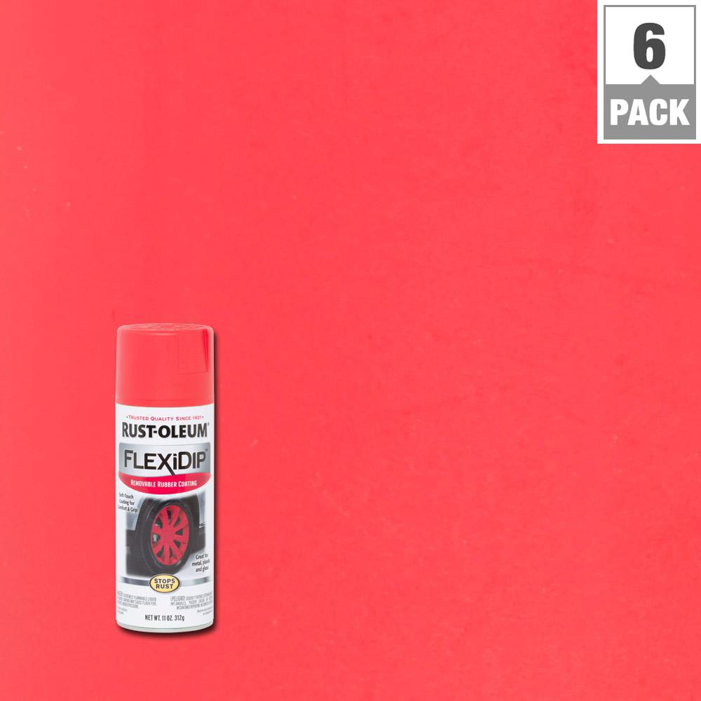 11 oz. Red Spray Paint (6-Pack)
