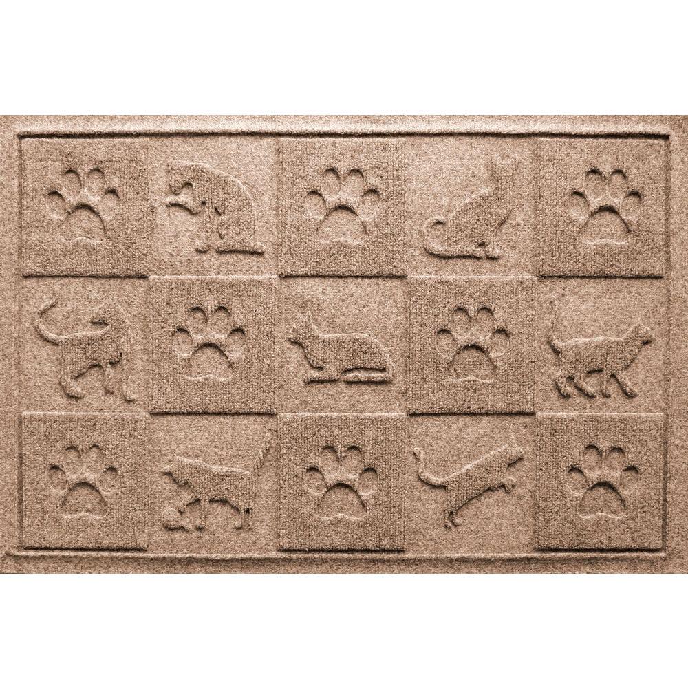 Medium Brown 24 in. x 36 in. Cat in the Mat Pet Mat