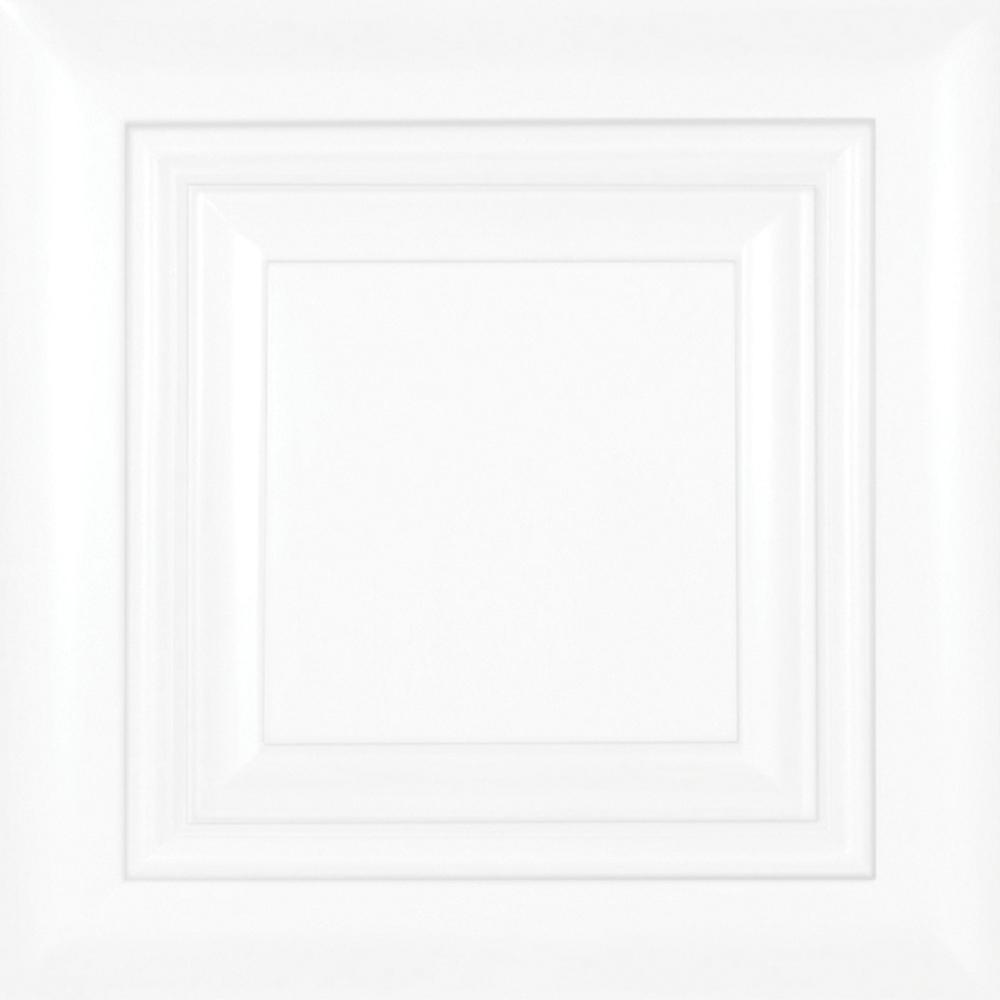 13x13x0.75 in. Brookfield Cabinet Door Sample in Pacific White
