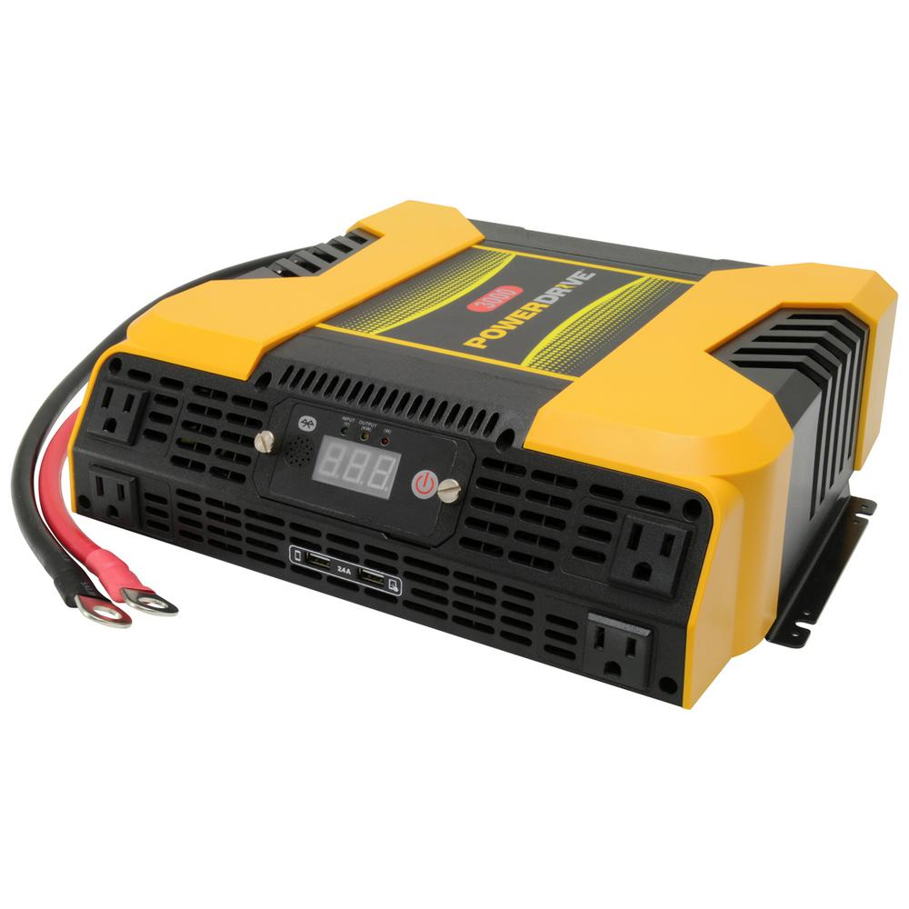 Powerdrive 3000 Watt Power Inverter With 4 Ac 2 Usb App