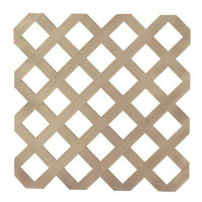 1/8 in. x 47-1/2 in. x 8 ft. Brownstone Garden Plastic Lattice