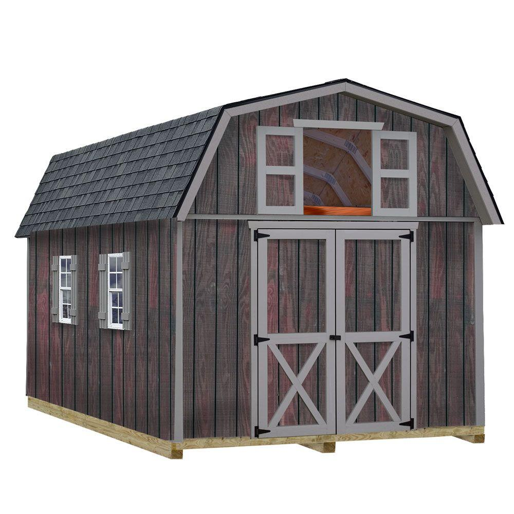 Best barns woodville 10 ft x 16 ft wood storage shed kit for Garden shed 5 x 4