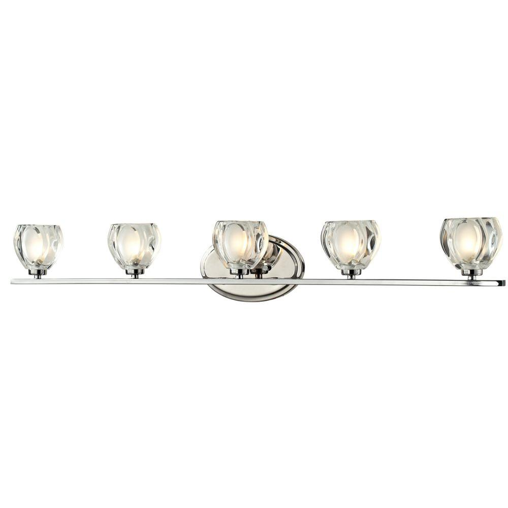 Filament Design Suave 5 Light Chrome Bath Vanity Light Cli Jb 027891 The Home Depot