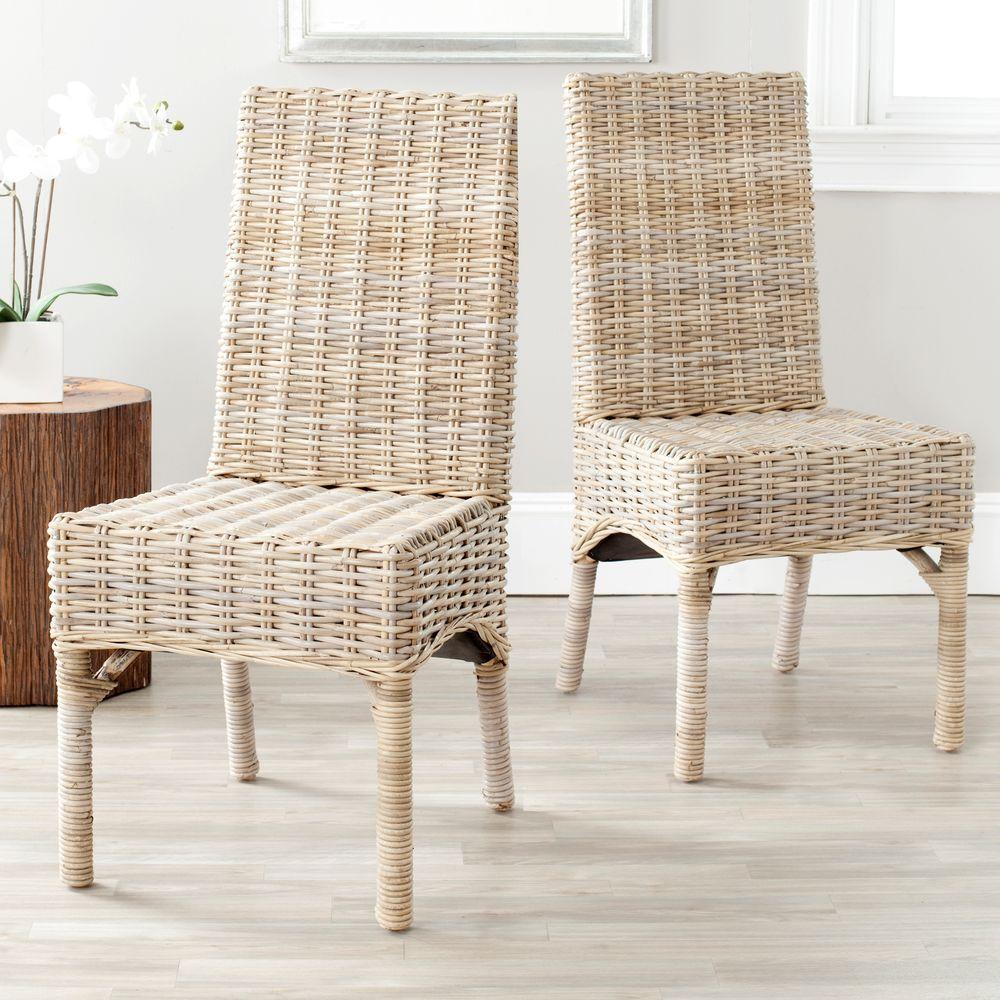 Safavieh Beacon Natural Unfinished Rattan Side Chair