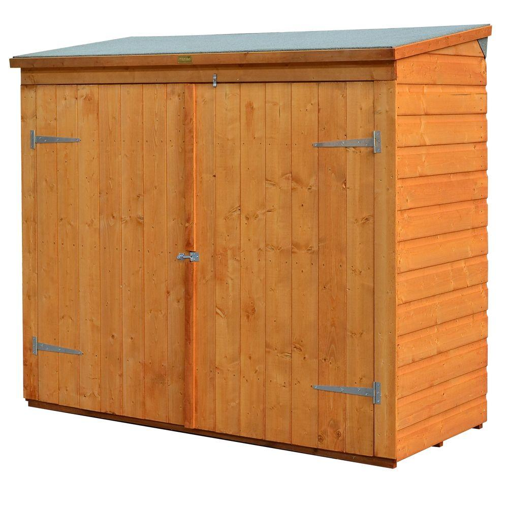 Bosmere Wall-Store 6 ft. x 2 ft. 8 in. Wood Storage Shed,...