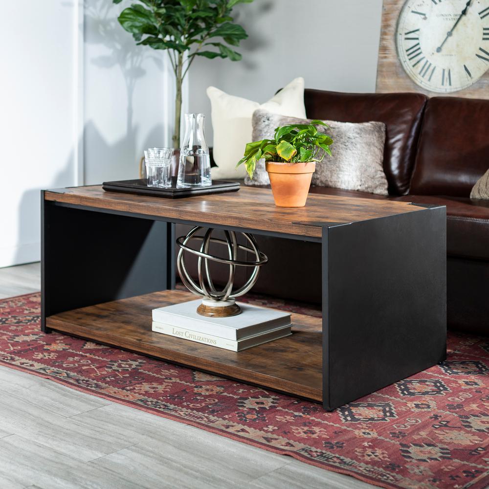 Home Furniture Company: Walker Edison Furniture Company Rustic Brown Storage