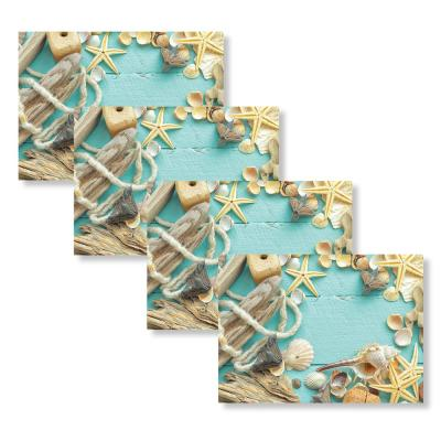 Sea Shell 18 in. W x 13 in. L Polypropylene 4-pack Placemat Set