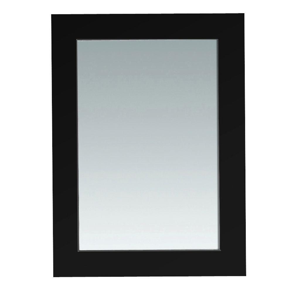 Bristol 30 in. L x 22 in. W Wall Mounted Mirror in Black