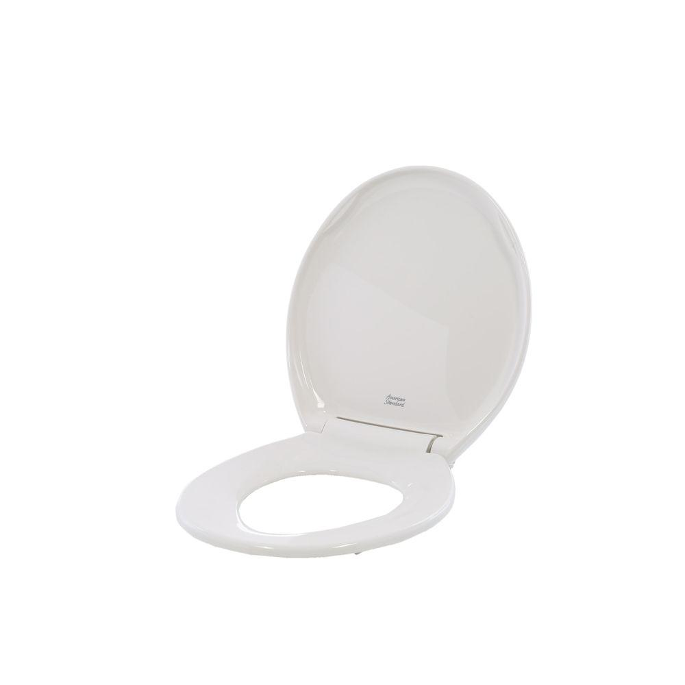 Champion Round Slow Closed Front Toilet Seat with Cover in White