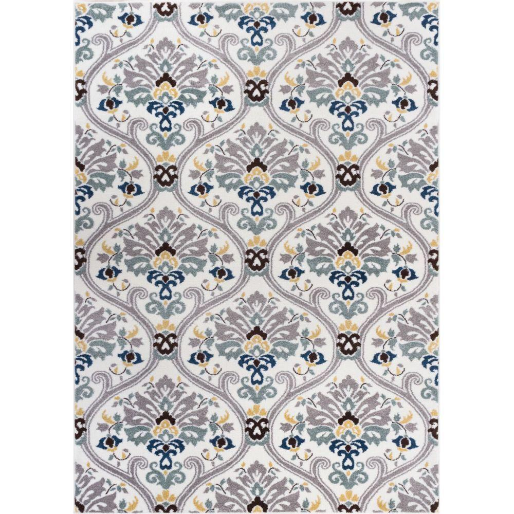 well woven electro darling floral gold 5 ft x 7 ft modern area rug 601615 the home depot. Black Bedroom Furniture Sets. Home Design Ideas