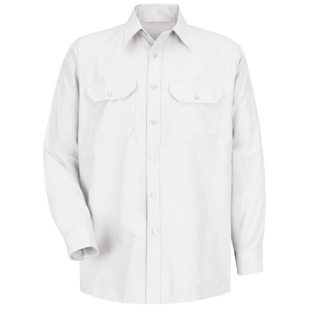 Men's Size 3XL x 36/37 White Solid Dress Uniform Shirt