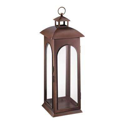 30 in. Metal Lantern in Copper