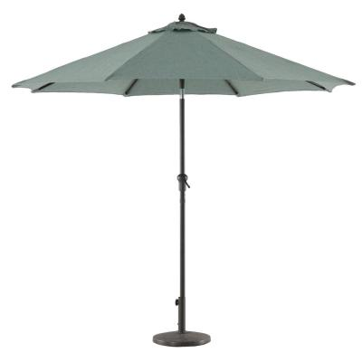 9 ft. Aluminum Market Crank and Tilt Patio Umbrella in Teal