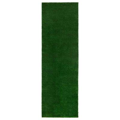 Evergreen Collection Green 3 ft. x 7 ft. 3 in. Solid Runner Rug