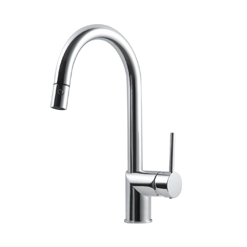 HOUZER Vitale Single-Handle Pull Down Sprayer Kitchen Faucet with ...