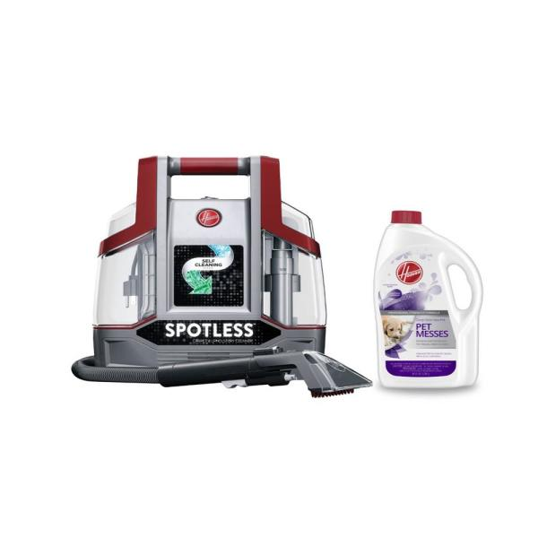 Hoover Spotless Portable Carpet Cleaner And Upholstery Spot Cleaner With Full Size Pet Solution Bundle Hv Spot Hd The Home Depot