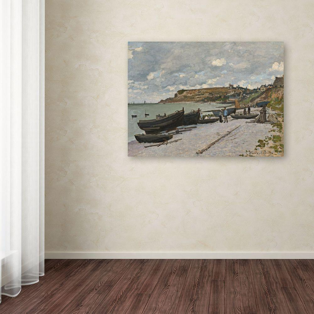 "Trademark Fine Art 35 in. x 47 in. ""Sainte-Adresse, 1867"" Canvas Art"